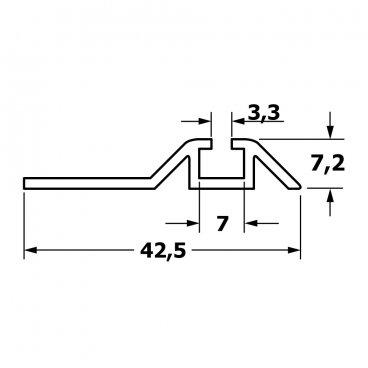 Single bottom running track 19456
