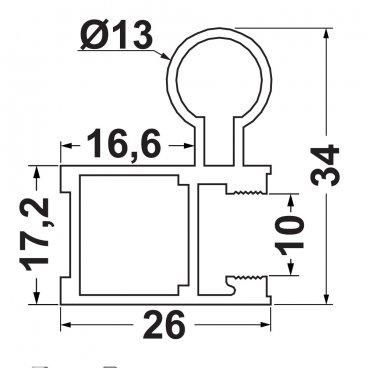 P10 вертикальный профиль 2.9 м 19489