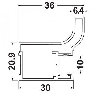J10 vertical grip, 2.9 m 19488