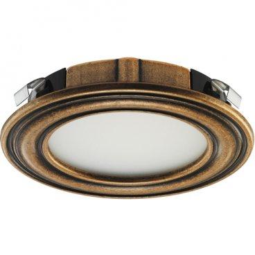 LED 1136 lampa 12V/3W, antīka bronza, silta gais 20148