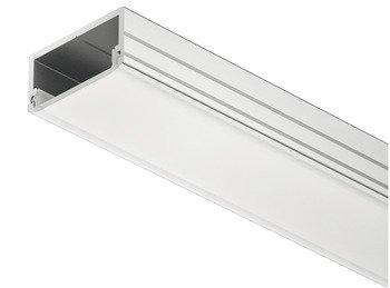 Alu profils LED lentai 2500 mm, matēts stikls 20089