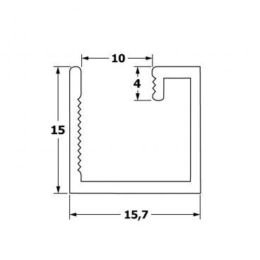 Горизонтальный профиль 10 мм 19503