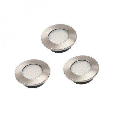 LED Valgusti 3x1.5W, 230V, soe valge, ümmargune 10354